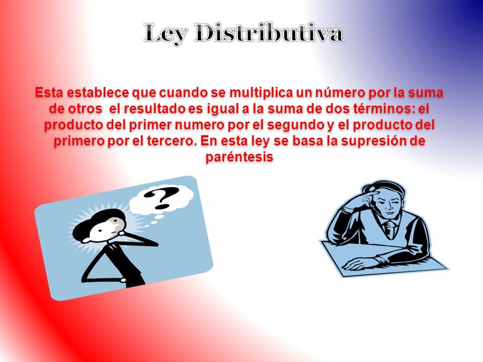 Ley Distributiva