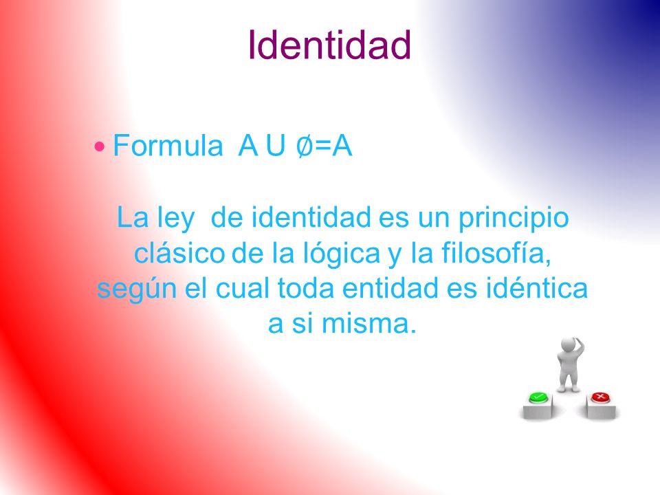 Identidad Formula A U ∅=A