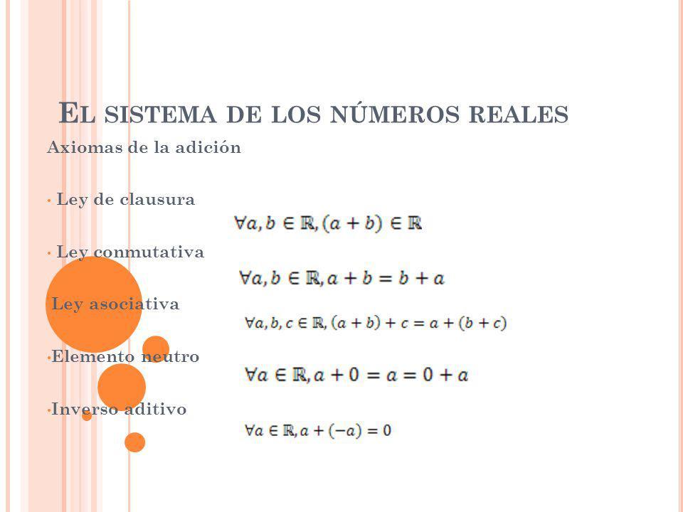 El sistema de los números reales