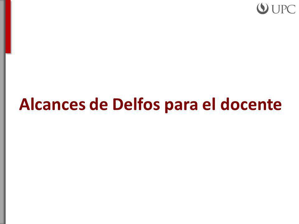 Alcances de Delfos para el docente