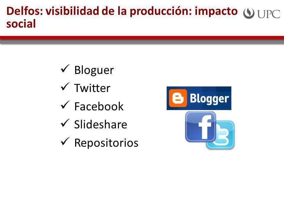 Delfos: visibilidad de la producción: impacto social