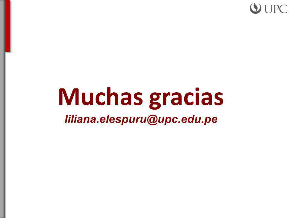 Muchas gracias liliana.elespuru@upc.edu.pe