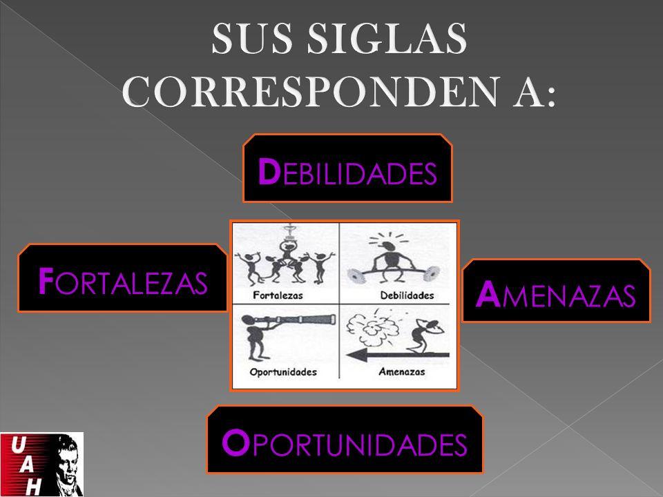 SUS SIGLAS CORRESPONDEN A: