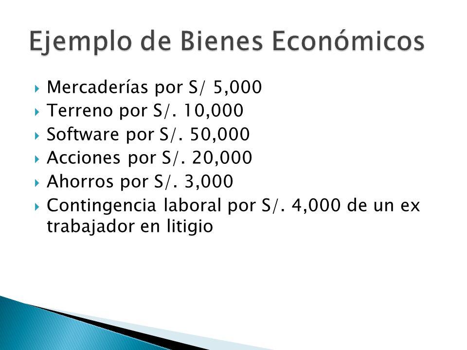 Ejemplo de Bienes Económicos