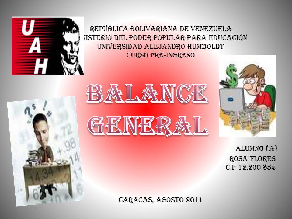 Balance General República Bolivariana de Venezuela