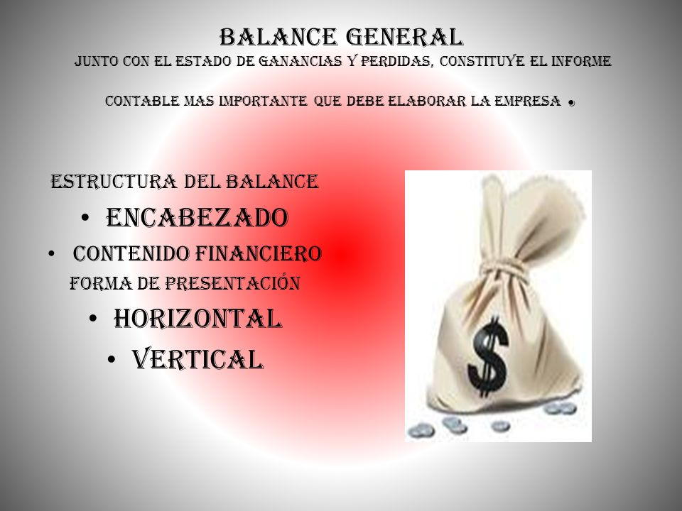 estructura del Balance