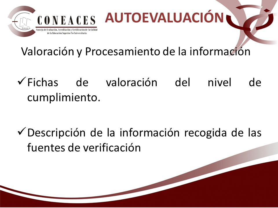 Valoración y Procesamiento de la información