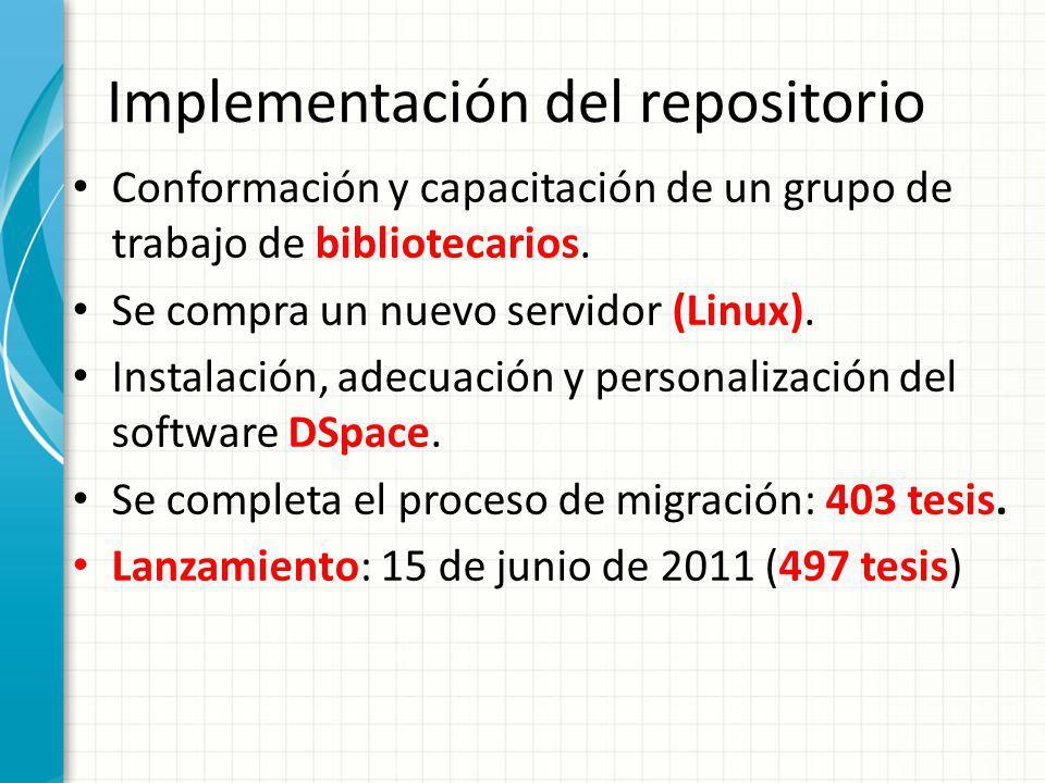 Implementación del repositorio
