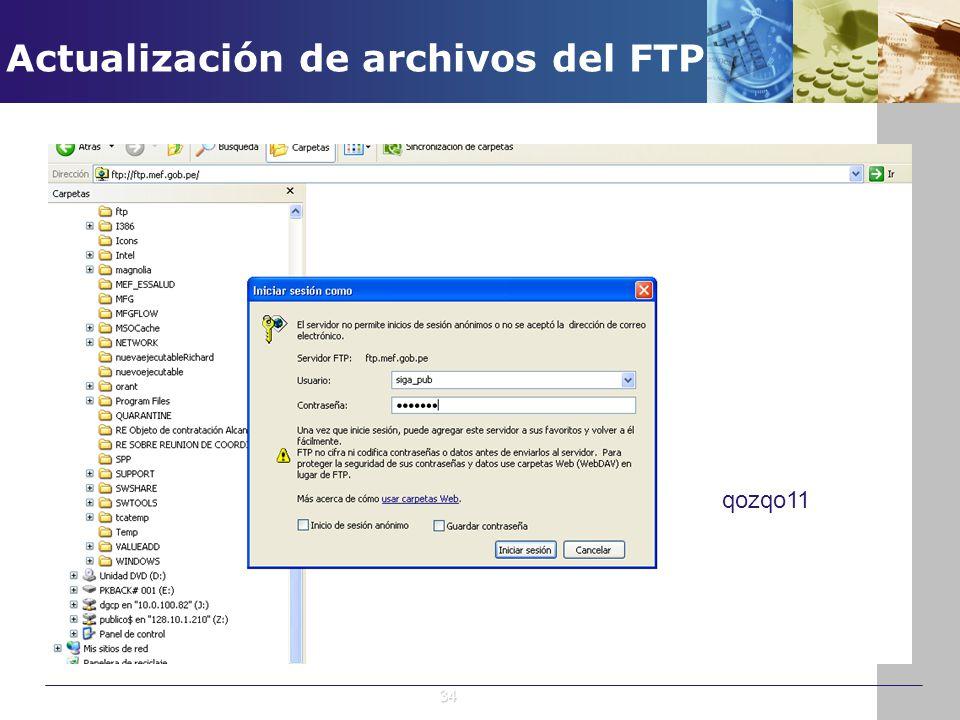 Actualización de archivos del FTP