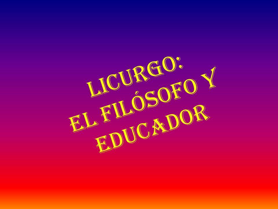 Licurgo: el Filósofo y Educador