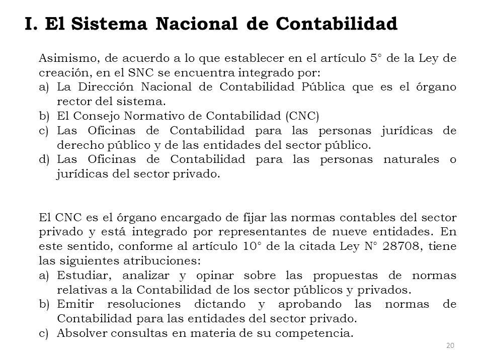 I. El Sistema Nacional de Contabilidad