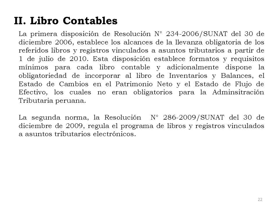 II. Libro Contables