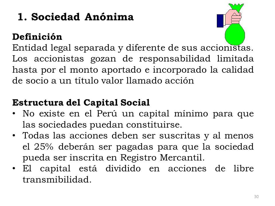 1. Sociedad Anónima Definición