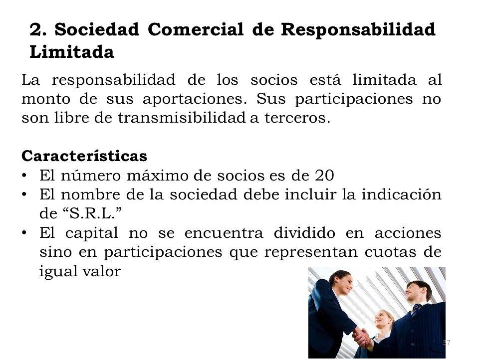 2. Sociedad Comercial de Responsabilidad Limitada