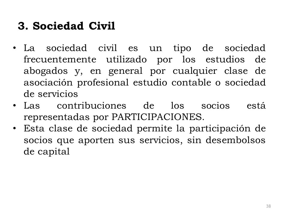 3. Sociedad Civil