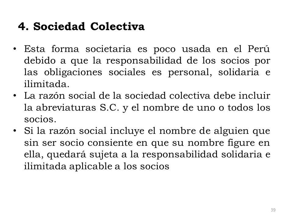 4. Sociedad Colectiva