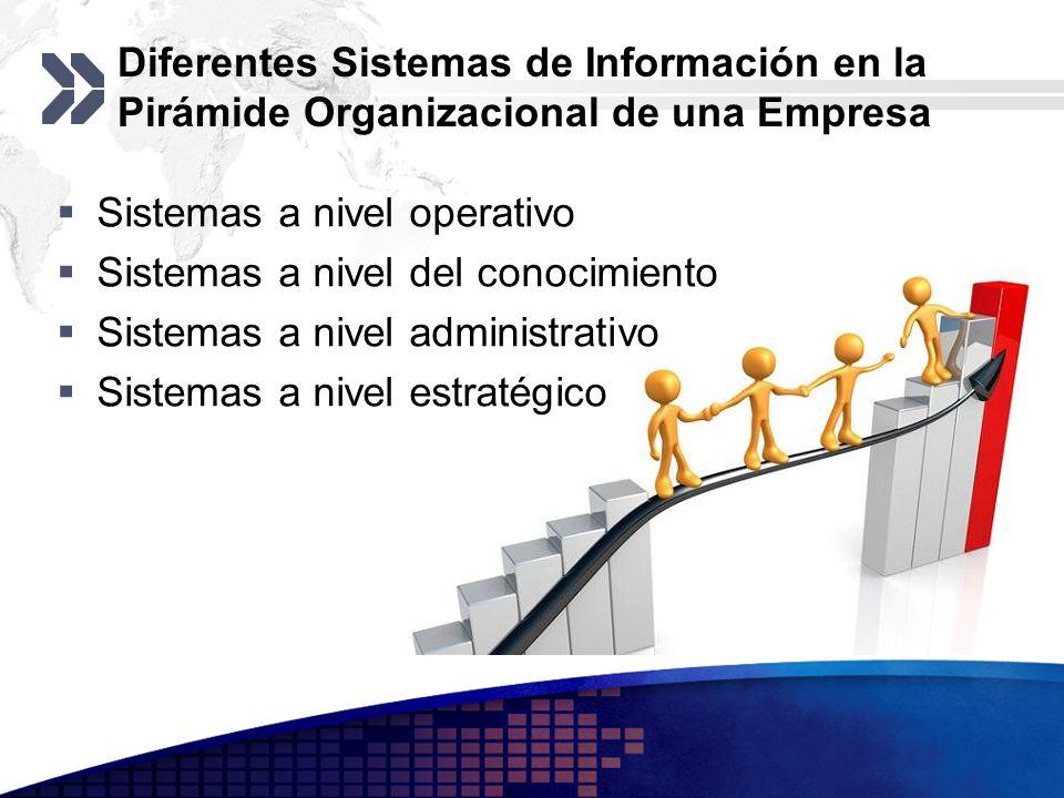 Diferentes Sistemas de Información en la Pirámide Organizacional de una Empresa