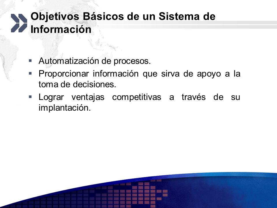 Objetivos Básicos de un Sistema de Información