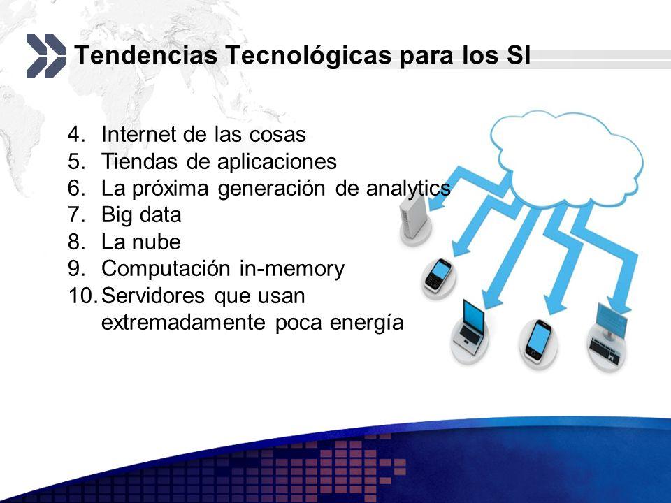 Tendencias Tecnológicas para los SI