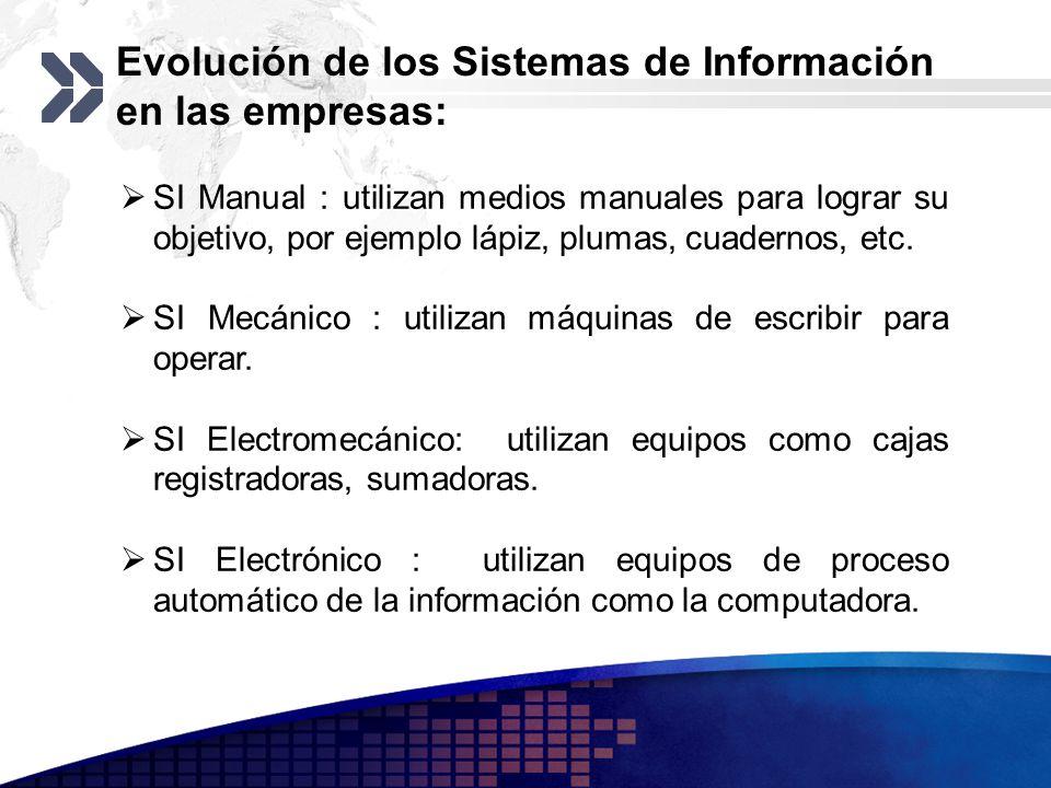 Evolución de los Sistemas de Información en las empresas: