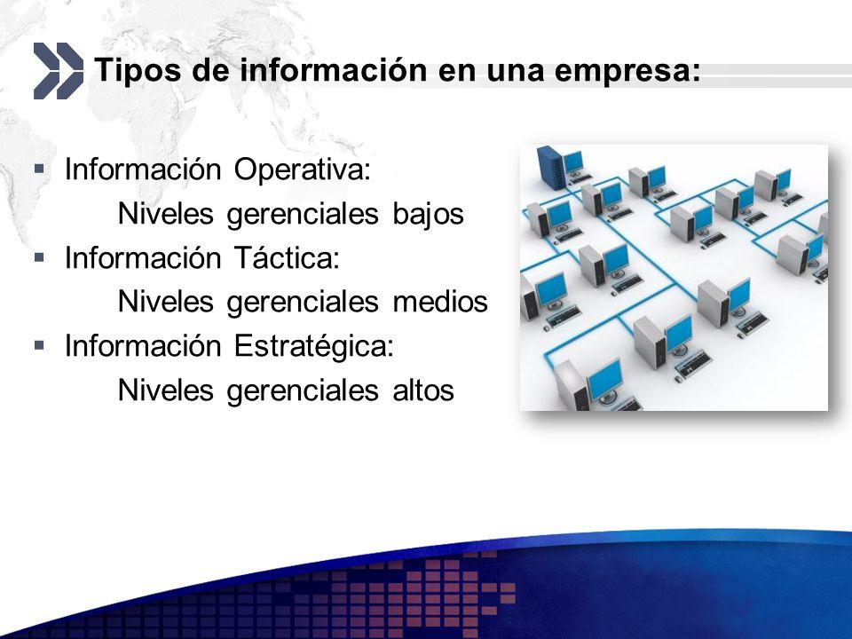 Tipos de información en una empresa: