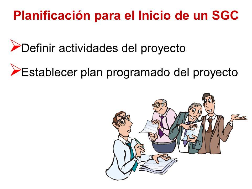 Planificación para el Inicio de un SGC