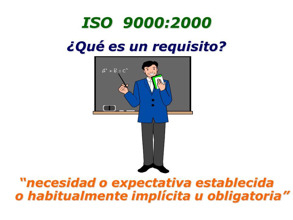 ISO 9000:2000 ¿Qué es un requisito