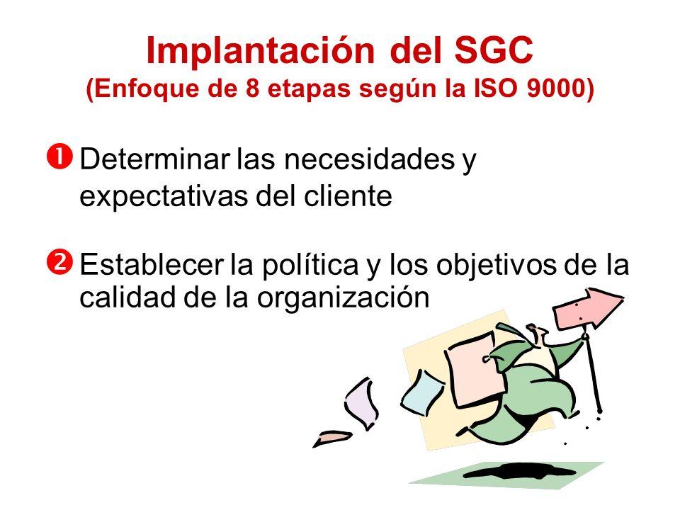Implantación del SGC (Enfoque de 8 etapas según la ISO 9000)