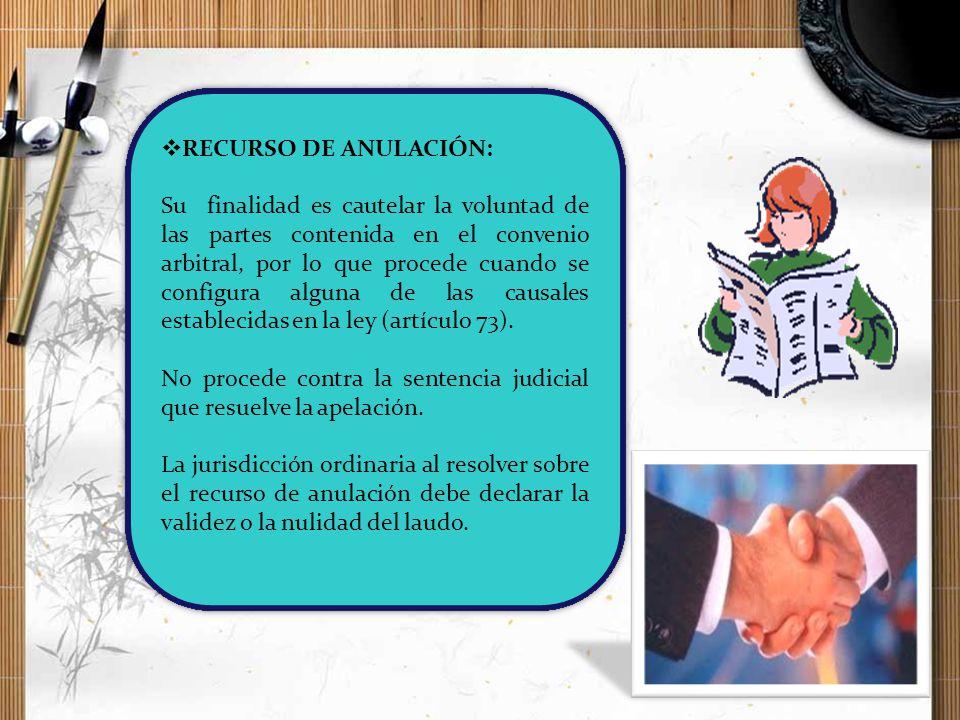 RECURSO DE ANULACIÓN: