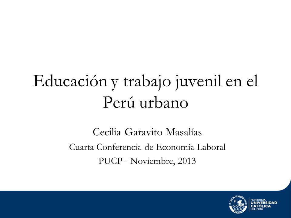 Educación y trabajo juvenil en el Perú urbano