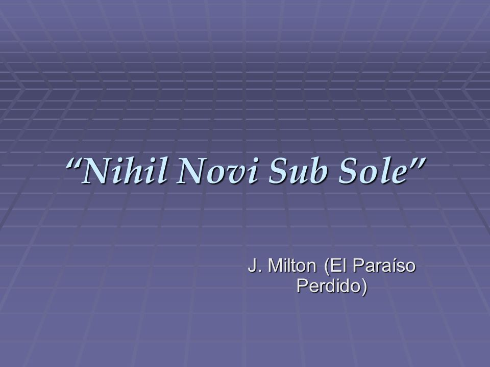 J. Milton (El Paraíso Perdido)