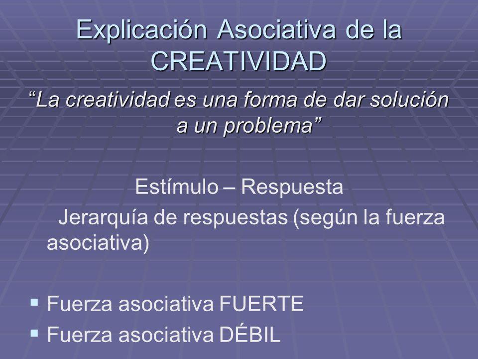 Explicación Asociativa de la CREATIVIDAD