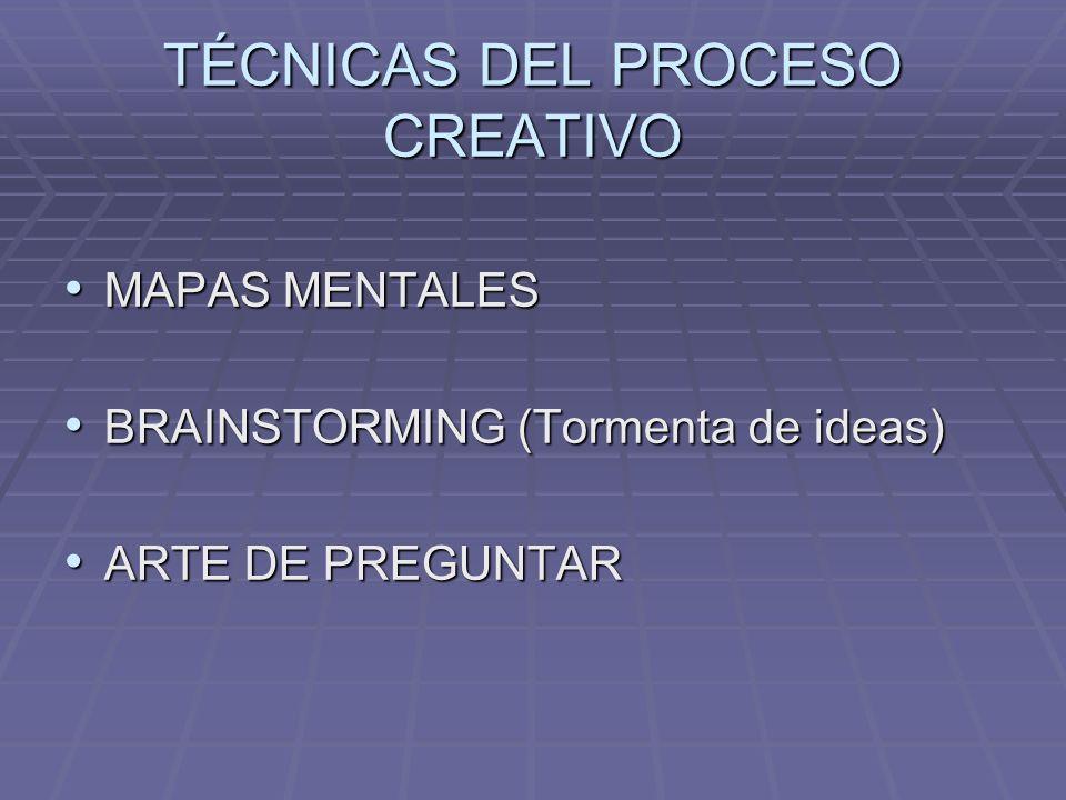 TÉCNICAS DEL PROCESO CREATIVO