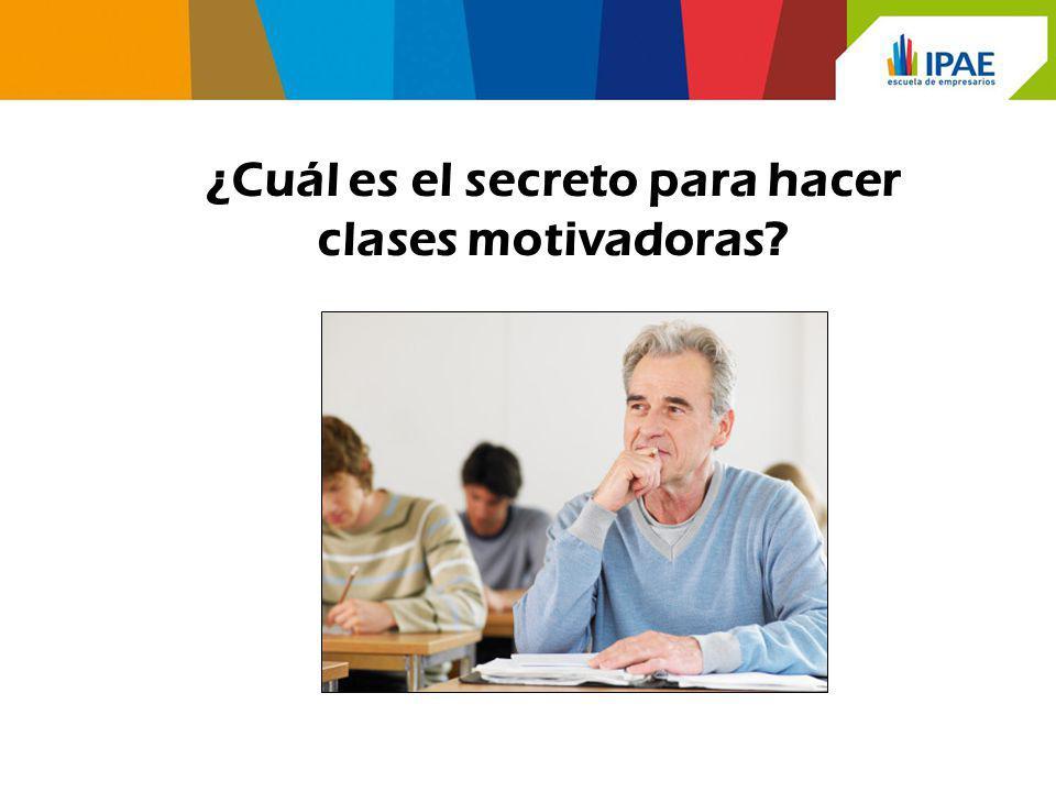¿Cuál es el secreto para hacer clases motivadoras