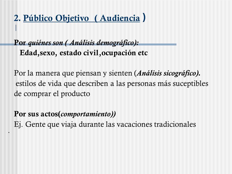 2. Público Objetivo ( Audiencia ) |