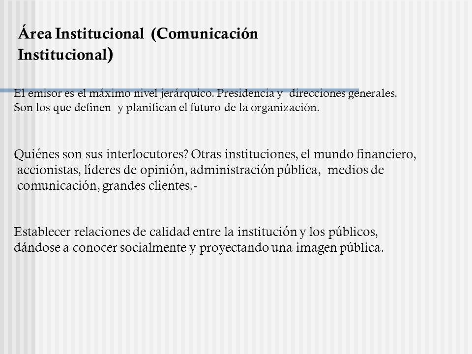 Área Institucional (Comunicación Institucional)