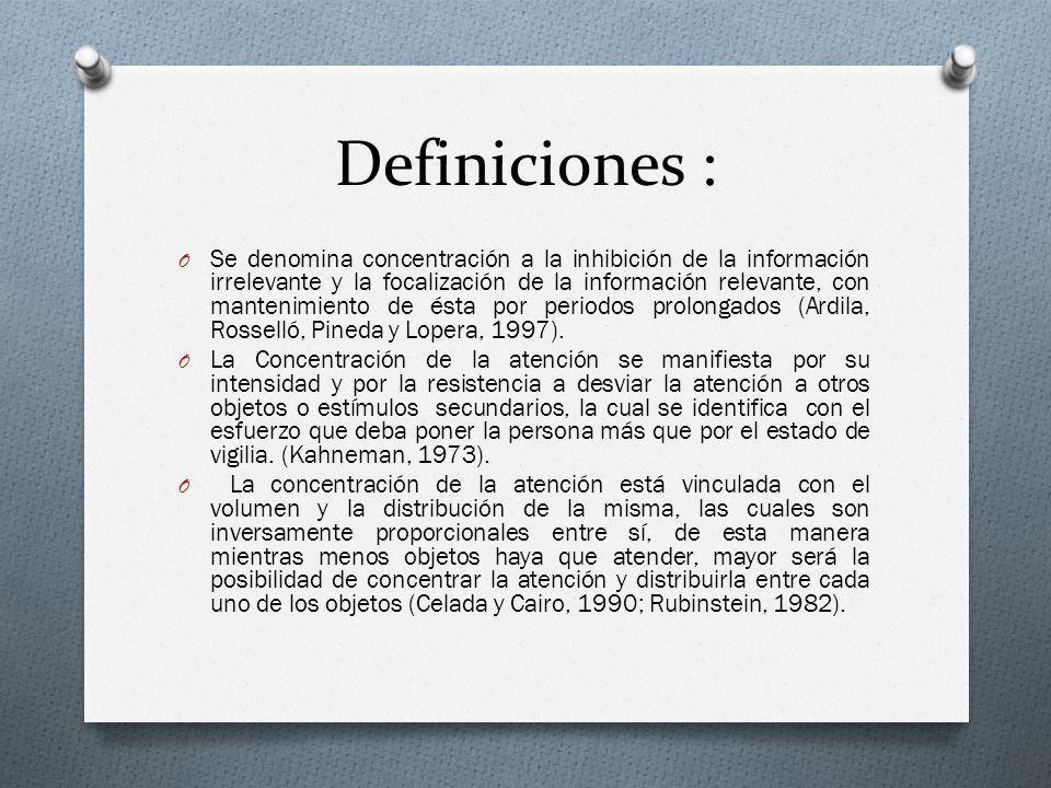 Definiciones :