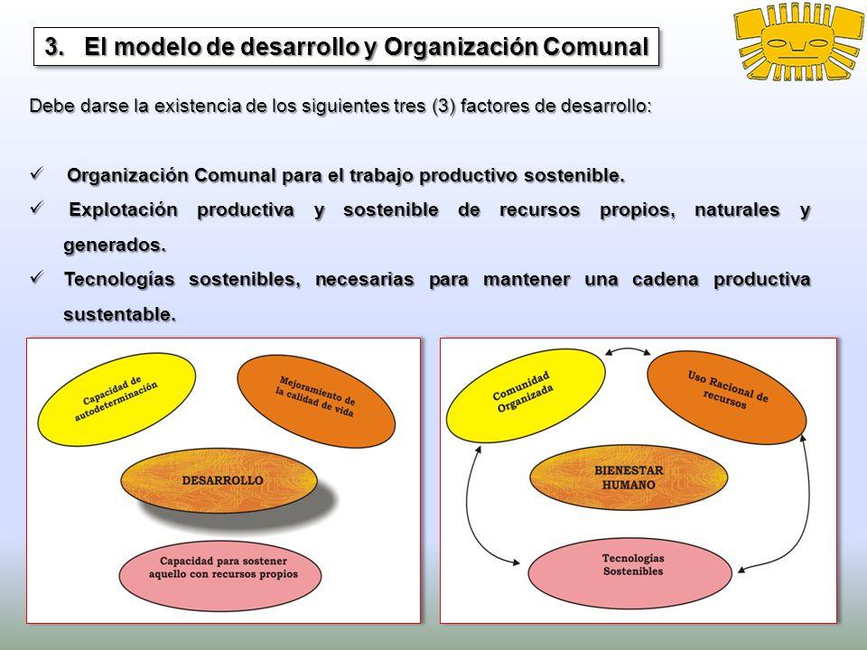 3. El modelo de desarrollo y Organización Comunal