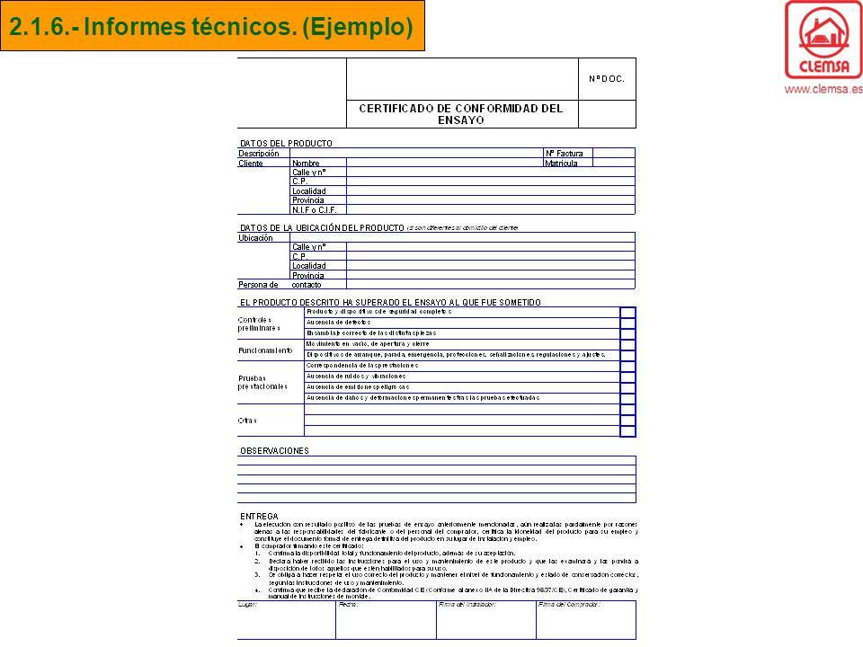 2.1.6.- Informes técnicos. (Ejemplo)