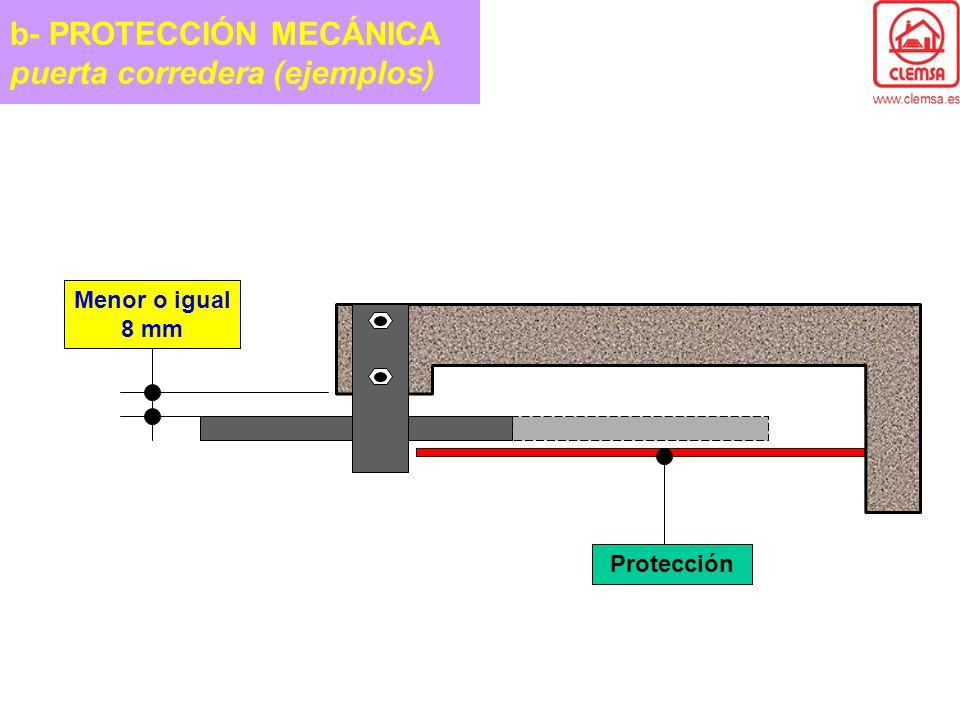 b- PROTECCIÓN MECÁNICA puerta corredera (ejemplos)