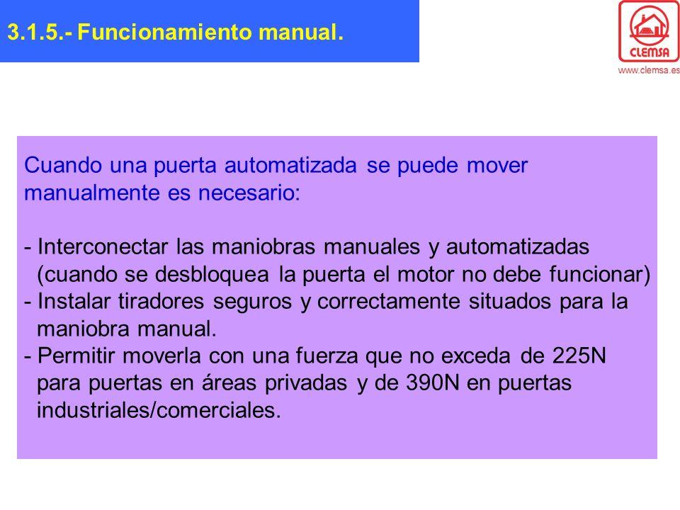 3.1.5.- Funcionamiento manual.