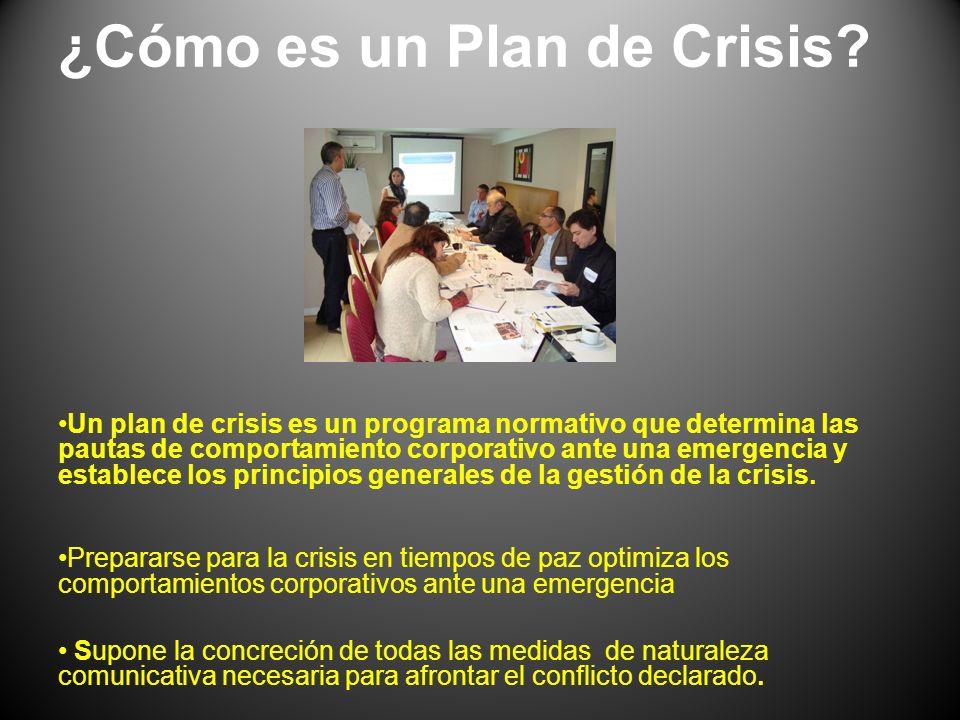 ¿Cómo es un Plan de Crisis