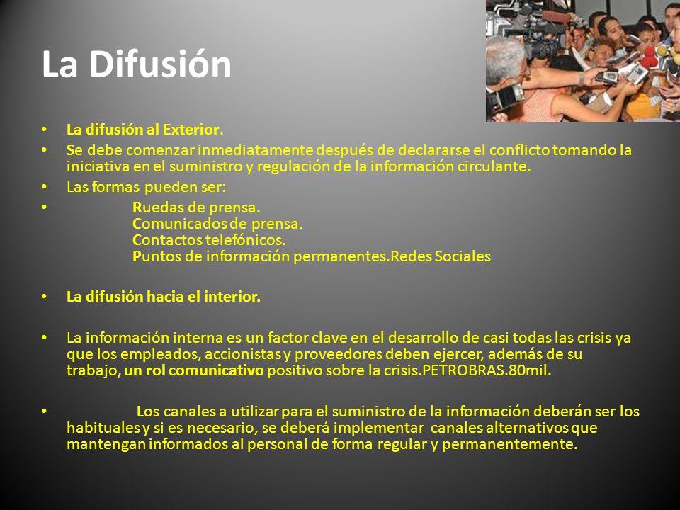La Difusión La difusión al Exterior.