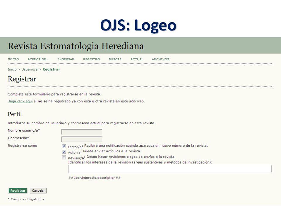 OJS: Logeo