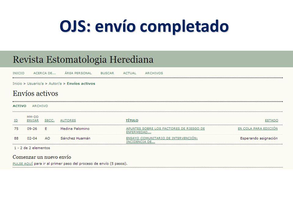 OJS: envío completado