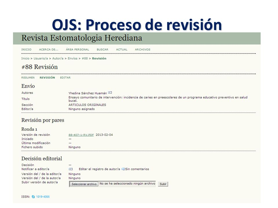 OJS: Proceso de revisión
