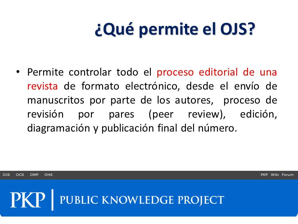 ¿Qué permite el OJS