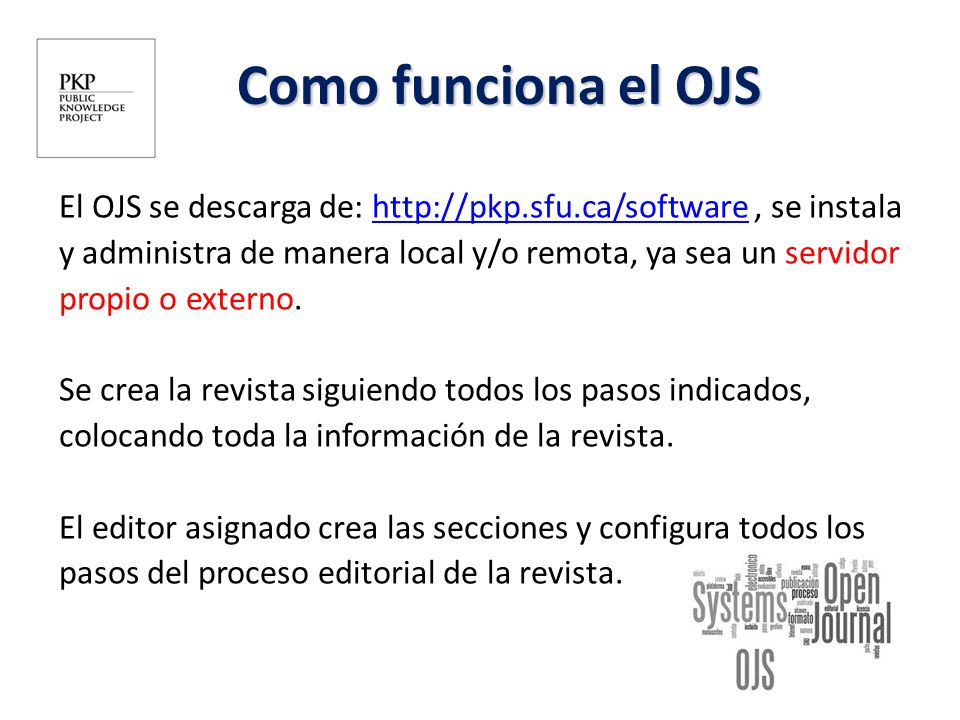 Introducción al Open Journal System