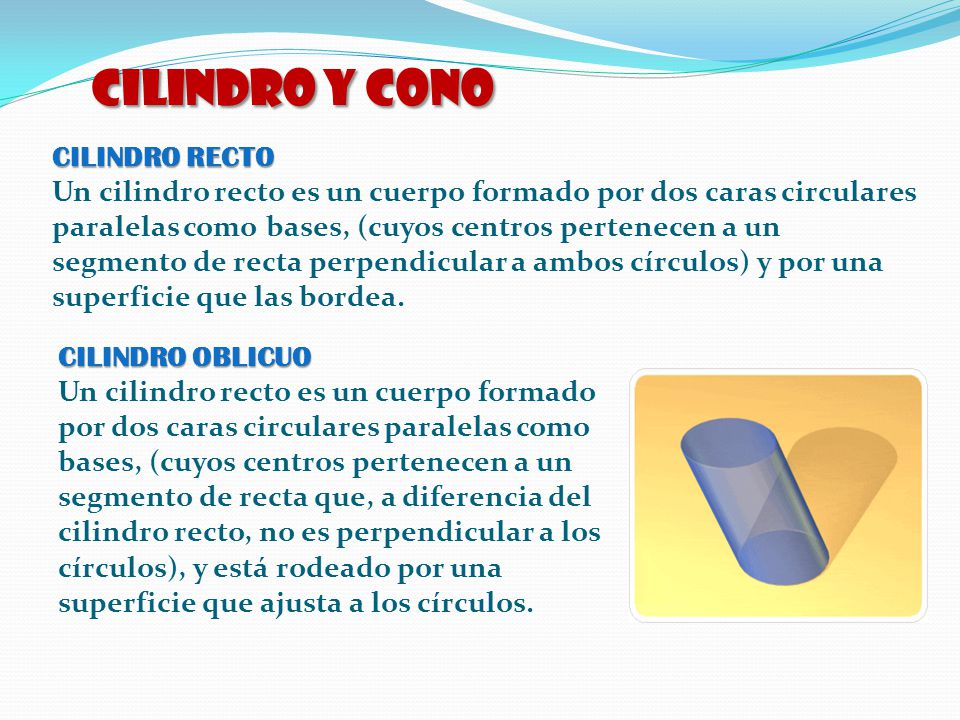 CILINDRO y CONO CILINDRO RECTO