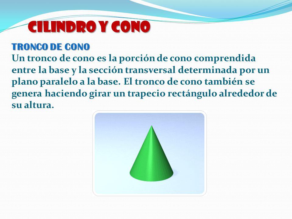 CILINDRO y CONO TRONCO DE CONO